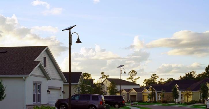 Florida Solar streetlights Kolter homes