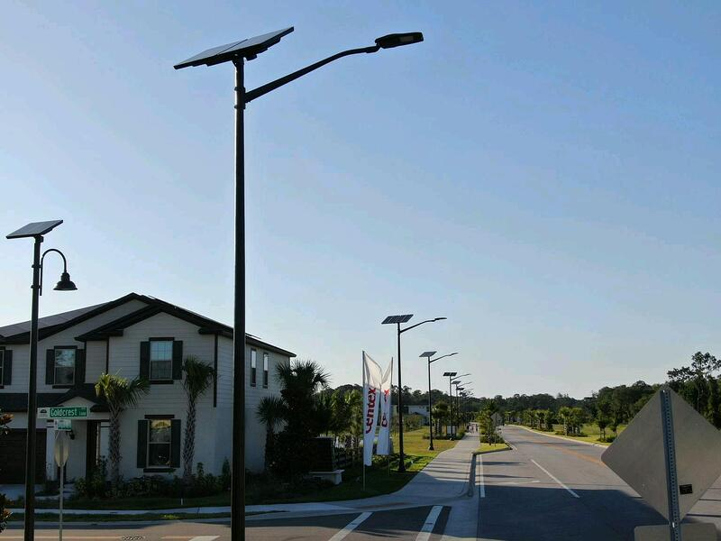 Florida solar streetlight
