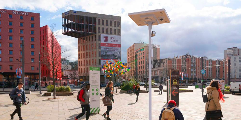 Eclairage public solaire intelligent et connecté